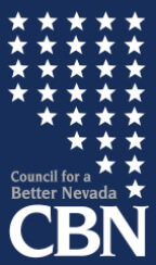 blue and white-starred logo of Council for a Better Nevada