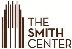 brown logo of The Smith Center on a white background
