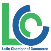 green and blue logo for Latin Chamber of Commerce