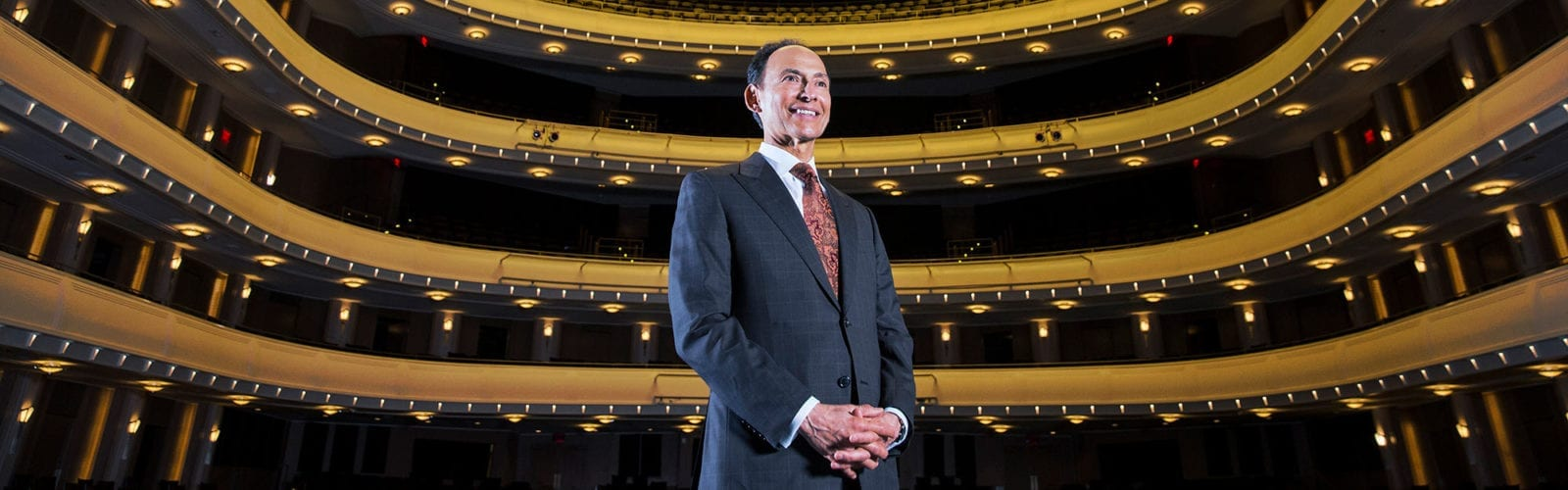 Investment Counsel Company President Randy Garcia onstage at the Smith Center for Performing Arts in Las Vegas